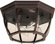 Craftmade Z434-RT Bent Glass Rust Outdoor 13  Ceiling Lighting Fixture