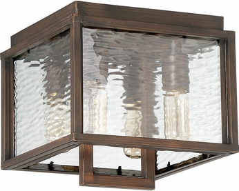 Craftmade Z9827-12 Cubic Contemporary Aged Bronze Brushed Outdoor Large Flush Mount Lighting
