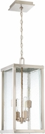 Craftmade Z9921-32 Farnsworth Contemporary Brushed Nickel / Patina Aged Brass Outdoor Large Drop Ceiling Lighting