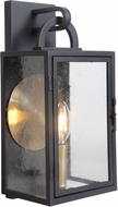 Craftmade ZA1602-TB Wolford Traditional Textured Matte Black Exterior 7 Wall Sconce Lighting