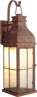 Craftmade ZA1804-WC-LED Vincent Traditional Weathered Copper LED Exterior Lighting Wall Sconce
