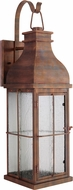 Craftmade ZA1804-WC-LED Vincent Weathered Copper LED Outdoor Wall Lamp