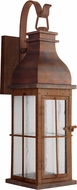 Craftmade ZA1814-WC-LED Vincent Weathered Copper LED Outdoor 7 Sconce Lighting