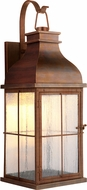 Craftmade ZA1824-WC-LED Vincent Traditional Weathered Copper LED Exterior Wall Light Sconce