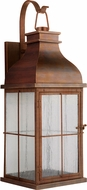 Craftmade ZA1824-WC-LED Vincent Weathered Copper LED Outdoor 9 Lighting Sconce