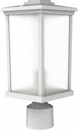 Craftmade ZA2415-TW Composite Lanterns Textured White Exterior Lamp Post Light Fixture