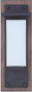 Craftmade ZA2502-WBMN-LED Heights Modern Whiskey Barrel/Midnight LED Outdoor 15 Sconce Lighting