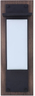 Craftmade ZA2522-WBMN-LED Heights Contemporary Whiskey Barrel/Midnight LED Outdoor 24 Wall Sconce Lighting
