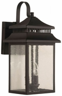 Craftmade ZA3124-TB Crossbend Textured Matte Black Outdoor 20 Wall Sconce