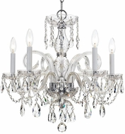 Crystorama 1005-CH-CL-SAQ Traditional Crystal Polished Chrome Mini Chandelier Light