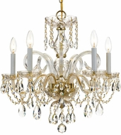 Crystorama 1005-PB-CL-SAQ Traditional Crystal Polished Brass Mini Lighting Chandelier