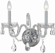 Crystorama 1032-CH-CL-SAQ Traditional Crystal Polished Chrome Candle Lamp Sconce