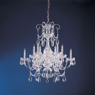 Crystorama 1035-CH-CL-MWP Traditional Crystal 32 Inch Diameter 6 Candle Chandelier Lighting - Polished Chrome