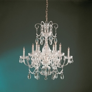 Crystorama 1035-PB-CL-MWP Traditional Crystal 32 Inch Diameter Polished Brass Finish Ceiling Chandelier
