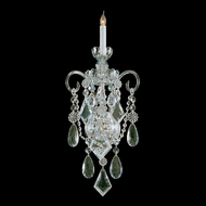 Crystorama 1041-PB-CL-MWP Traditional Crystal Polished Brass Finish 1 Candle 22 Inch Tall Lighting Sconce