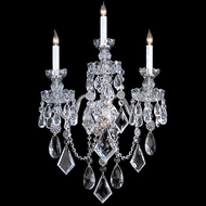 Crystorama 1043-CH-CL-MWP Traditional Crystal Polished Chrome Wall Lamp