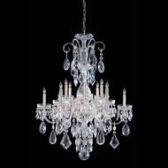 Crystorama 1045-CH-CL-MWP Traditional Crystal 6 Light 32 Inch Diameter Polished Chrome Candelabra Chandelier