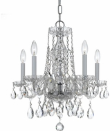 Crystorama 1061-CH-CL-SAQ Traditional Crystal Polished Chrome Mini Chandelier Light