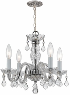 Crystorama 1064-CH-CL-I Traditional Crystal Polished Chrome Mini Chandelier Light