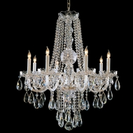 Crystorama 1108-CH-CL-MWP Polished Chrome Chandelier Light