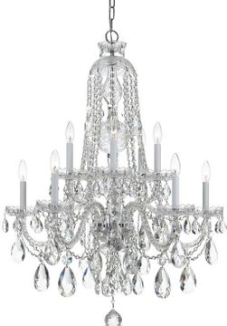 Crystorama 1110-CH-CL-SAQ Traditional Crystal Polished Chrome Chandelier Light