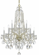 Crystorama 1110-PB-CL-S Traditional Crystal Polished Brass Ceiling Chandelier