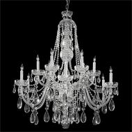 Crystorama 1114-CH-CL-MWP Traditional Crystal Polished Chrome Chandelier Lighting