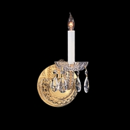 Crystorama 1121-PB-CL-MWP Traditional Crystal 12 Inch Tall 1 Candle Wall Sconce Light