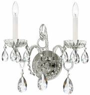 Crystorama 1122-CH-CL-S Traditional Crystal Polished Chrome Candle Sconce Lighting