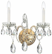 Crystorama 1122-PB-CL-S Traditional Crystal Polished Brass Candle Lighting Sconce