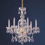 Crystorama 1126-PB-CL-MWP Traditional Crystal Polished Brass Chandelier Lamp