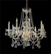 Crystorama 1128-PB-CL-MWP Traditional Crystal Polished Brass Chandelier Light