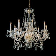Crystorama 1128-PB-CL-MWP Traditional Crystal 26 Inch Tall Polished Brass 26 Inch Diameter Ceiling Chandelier Lighting