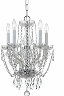Crystorama 1129-CH-CL-SAQ Traditional Crystal Polished Chrome Mini Chandelier Light