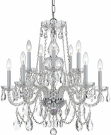 Crystorama 1130-CH-CL-S Traditional Crystal Polished Chrome Chandelier Light