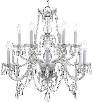 Crystorama 1135-CH-CL-I Traditional Crystal Polished Chrome Chandelier Light