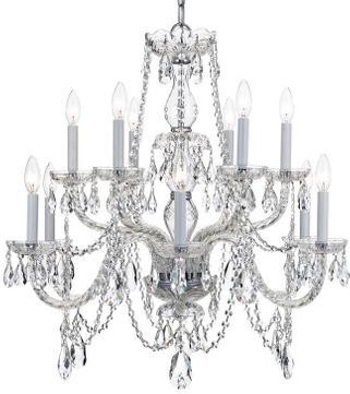 Crystorama 1135-CH-CL-MWP Traditional Crystal Polished Chrome Ceiling Chandelier