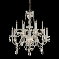 Crystorama 1135-PB-CL-MWP Traditional Crystal Hanging 31 Inch Diameter Polished Brass Chandelier Light Fixture