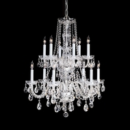 Crystorama 1137-CH-CL-MWP Traditional Crystal 2 Tier Chrome Finish 12 Light Candelabra Chandelier