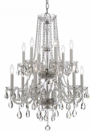 Crystorama 1137-CH-CL-S Traditional Crystal Polished Chrome Chandelier Lamp