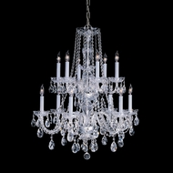 Crystorama 1137-PB-CL-MWP Traditional Crystal Brass 26 Inch Diameter 12 Candle Dining Chandelier