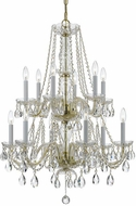 Crystorama 1137-PB-CL-S Traditional Crystal Polished Brass Ceiling Chandelier