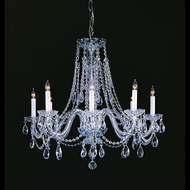 Crystorama 1138-CH-CL-MWP Traditional Crystal 26 Inch Diameter Polished Chrome Finish Chandelier Light Fixture
