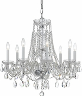 Crystorama 1138-CH-CL-S Traditional Crystal Polished Chrome Chandelier Light