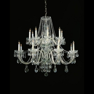 Crystorama 1139-CH-CL-MWP Traditional Crystal 37 Inch Diameter Polished Chrome 16 Candle Large Chandelier Light Fixture