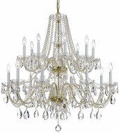 Crystorama 1139-PB-CL-S Traditional Crystal Polished Brass Ceiling Chandelier