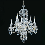 Crystorama 1140-CH-CL-MWP Traditional Crystal Polished Chrome Ceiling Chandelier