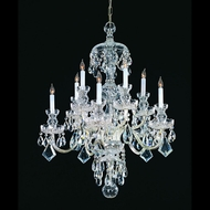 Crystorama 1140-CH-CL-MWP Traditional Crystal Polished Chrome 28 Inch Diameter 10 Light Candelabra Chandelier Lamp