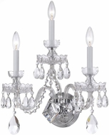 Crystorama 1143-CH-CL-SAQ Traditional Crystal Polished Chrome Candle Wall Mounted Lamp