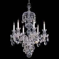 Crystorama 1146-CH-CL-MWP Traditional Crystal Polished Chrome Hanging Chandelier